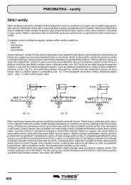PNEUMATIKA - ventily Dělící ventily - Tubes International