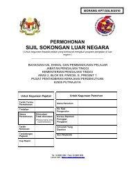 sijil sokongan luar negara - Jabatan Pengajian Tinggi - Kementerian ...