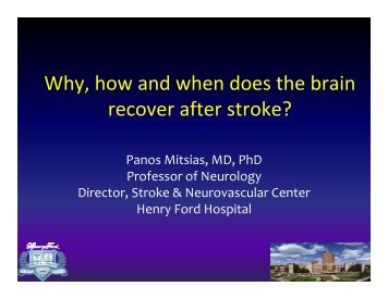 Why, how and when does the brain y recover after stroke?