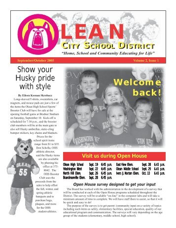 September - October 2005 - Olean City School District