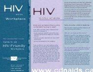 HIV workplace brochure.qxd - CATIE