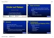 Kinder auf Reisen - Tropen- und Reisemedizin  am Bellevue, Zürich