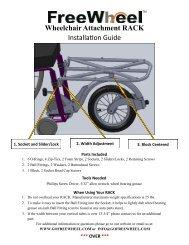 FreeWheel Rack Installation Guide - Seating Dynamics