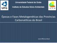Épocas e Fases Metalogenéticas das Províncias ... - ADIMB