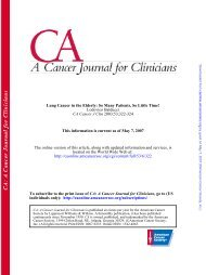 2003;53;322-324 CA Cancer J Clin Lodovico Balducci Lung ... - GrG