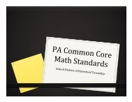 PA Common Core Math Standards - PDF - Haverford Township ...