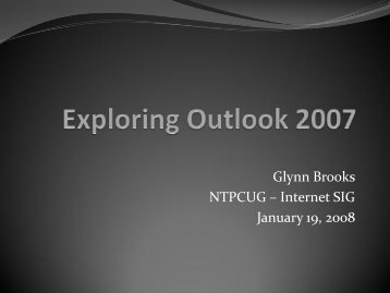 200801-Exploring Outlook 2007