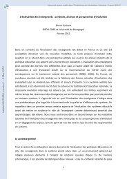 L'évaluation des enseignants: contexte, analyse et perspectives d ...