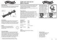 Zielfernrohr 4x32 GA mit MilDot Absehen - Umarex