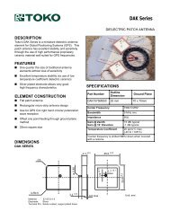 TOKO antenna - GPS Information