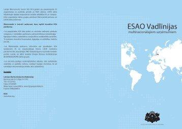 ESAO Vadlīnijas multinacionālajiem uzņēmumiem - Latvijas ...