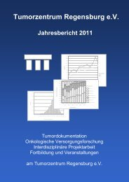 Tumorzentrum Regensburg e.V. Jahresbericht 2011
