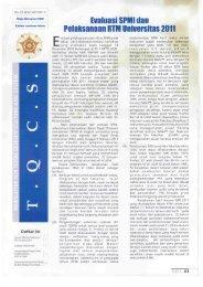 23.Edisi_Maret_2011 - Kantor Jaminan Mutu - Universitas Gadjah ...