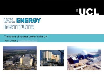 The future of nuclear power in the UK