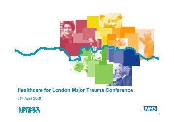 Major trauma conference afternoon presentations - London Health ...
