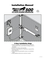 Mighty Mule FM-500 Installation Manual - Hoover Fence