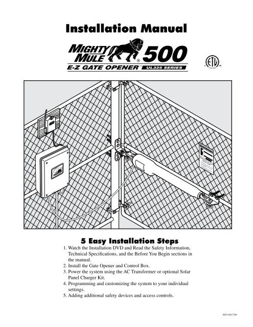 mighty mule fm-500 installation manual - hoover fence  yumpu