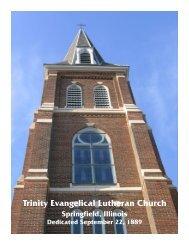 Trinity Lutheran Church History - Trinity Evangelical Lutheran Church