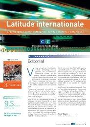 Latitude Internationale n°22 - CIC