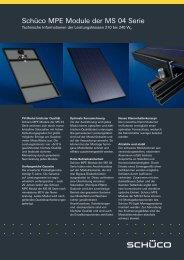 Typenblatt Schüco Photovoltaikmodul MPE MS04 - Startec