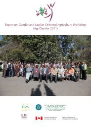 Report on Gender and Market Oriented Agriculture Workshop - IPMS ...