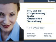 ITIL und die IT-Optimierung in der öffenltichen Verwaltung - FIT-öV