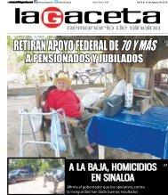 RETIRAN APOYO FEDERAL DE 70 Y MÁS - SEMANARIO LA ...