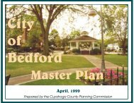 Bedford Master Plan - Cuyahoga County Planning Commission