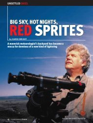 Big Sky, Hot Nights, Red Sprites - Department of Atmospheric ...