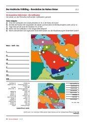 Der Arabische Frühling – Revolution im Nahen Osten - schulpraxis
