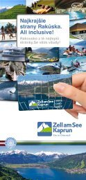 Ako si zaistíte kartu Zell am See-Kaprun? - CKPK