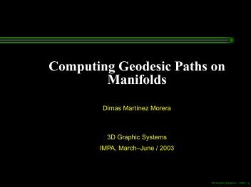 Computing Geodesic Paths on Manifolds - Impa