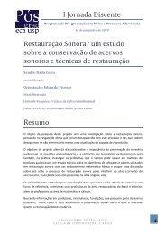 Restauração Sonora? um estudo sobre a conservação ... - ECA-USP