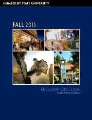 Registration Guide - Bad Request - Humboldt State University