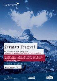 Das offizielle Programm 2013 (PDF) - Zermatt Festival