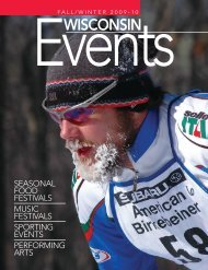 2009-10 Fall Winter Events-2.qxd - Wisconsin Department of Tourism