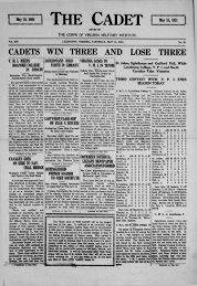 The Cadet. VMI Newspaper. May 14, 1921 - New Page 1 [www2.vmi ...