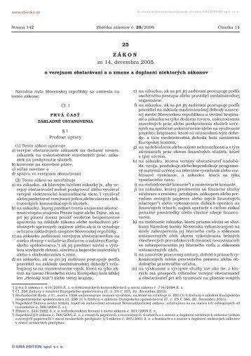 25/2006 Zákon o verejnom obstarávaní a o zmene a doplnení ...
