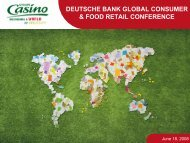 Deutsche Bank – Global Consumer & Food Retail ... - Groupe Casino