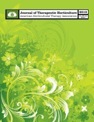 VOLUME XXII ISSUE I - American Horticultural Therapy Association