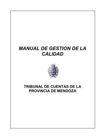 MANUAL DE GESTION DE LA CALIDAD - Tribunal de Cuentas