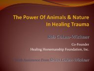 The Power of Animals & Nature in Healing Trauma Handout (PDF)