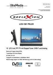 "LCD-1561 PKLDV 15"" (37,5 cm) TFT-TV mit Doppel ... - Reflexion"