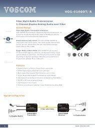 VOS-0100DT/R - Datasheet - Fiber Optic Transmitter