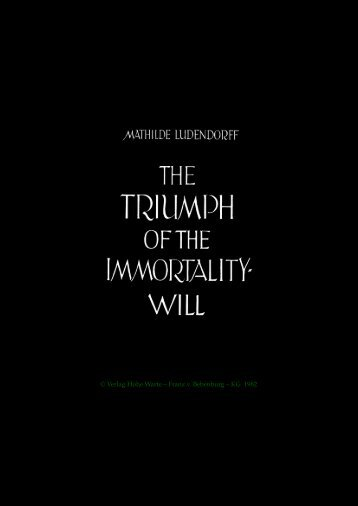Triumph of the Immortality-Will