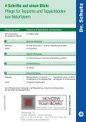 Pflegeanleitung für Teppichböden und Teppiche aus Naturfasern - Seite 3