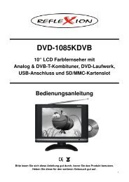 "DVD-1085KDVB 10"" LCD Farbfernseher mit Analog ... - Reflexion"