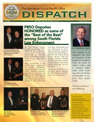 0609 Sheriff Dispatch.indd - Palm Beach County Sheriff's Office