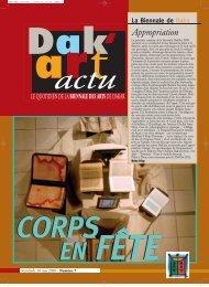 Appropriation - Biennale de l'art africain contemporain Dak'Art