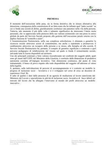 LE ESPERIENZE D'AZIONE COMUNE - Consorzio Sol.Co.